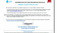 Information facturation Service des Eaux